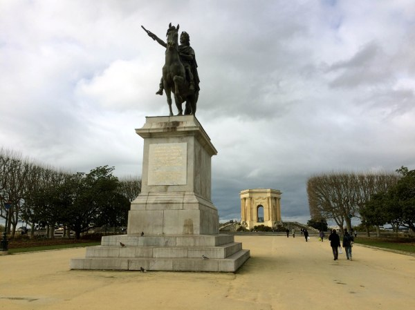 Statues and art in Montpellier, France