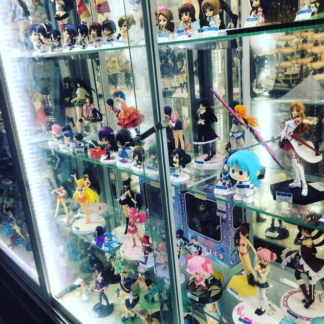 Anime figures in Akihabara