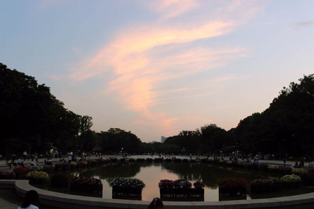 sunset in ueno park