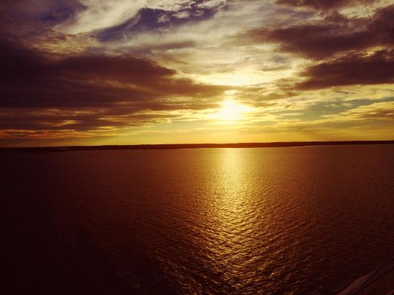 sunset on the sea from Silja Line