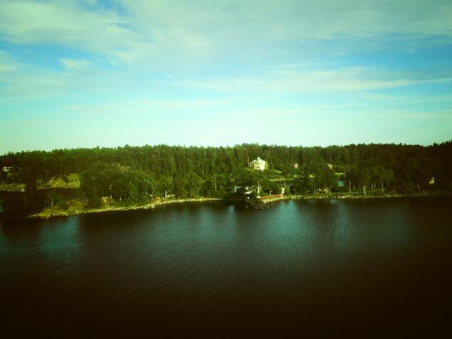 sweden island from cruise