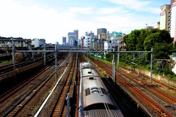 idyllic tokyo neighborhood train