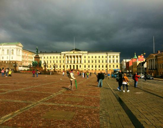 Stormy Helsinki Finland