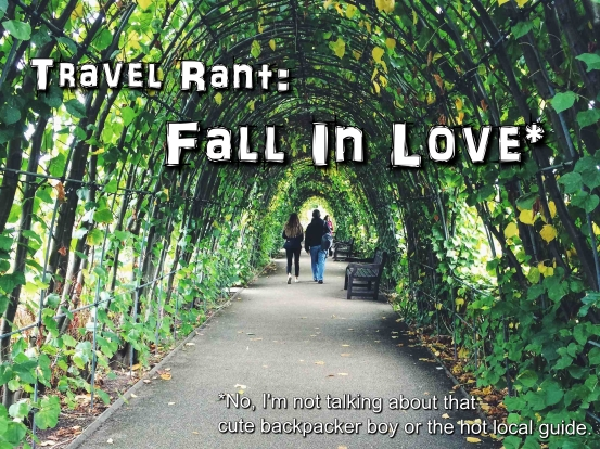 About travelling and falling in love...