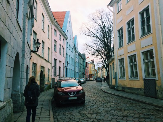 In old town on our way to Tallinn's Christmas Market