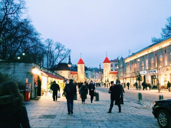 Tallinn's old town and Christmas