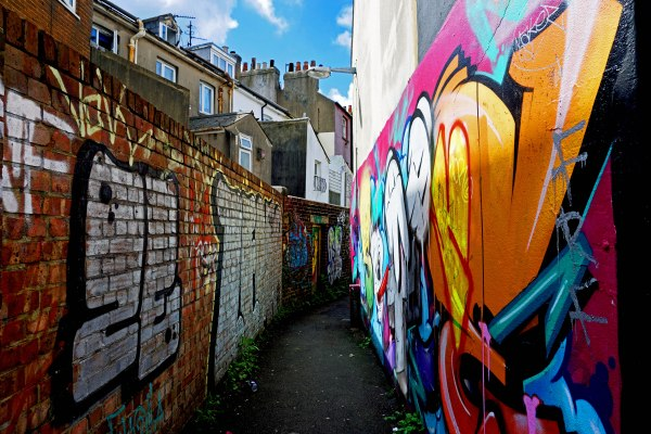 Street art alley in Brighton