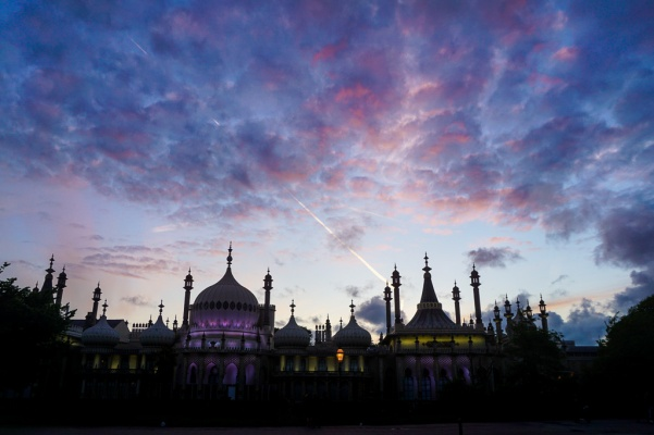 Brighton Pavilion in sunset